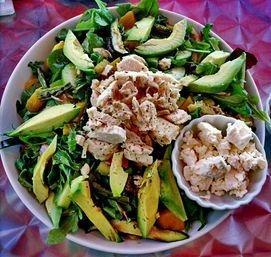 The Green Salad ( Avocado & Feta Cheese add on)