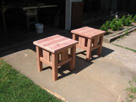 Red Cedar End Tables Unfinished Set of 2  $385.00