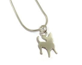 hand made silver dog pendant