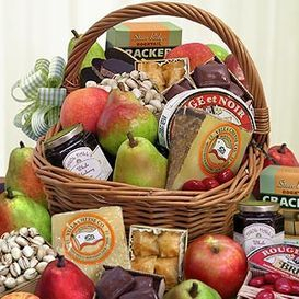 Fresh Fruits, Cookies, Cakes, Jams, Nuts, Coffees, Teas, Chocolate Gif Basket from Florida gift basket.com