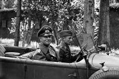 Rommel's staff car strafed in Normandy