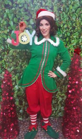 joy elf character los angeles party christmas company
