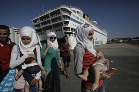 refugees on the Greek islands