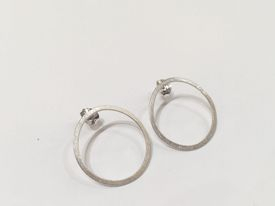 hand made silver hoop studs