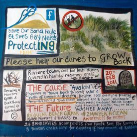 Save our sand Dunes at Hayle, Cornwall