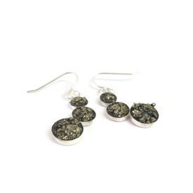 hand made silver and pyrite earrings