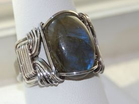Sterling Silver Mens Wire Wrap Ring