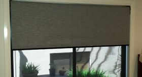 Roller Blind - charcoal in a 2 tone