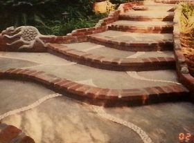 brick, concrete, tile entry way