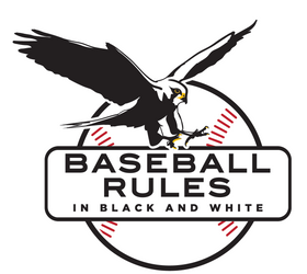 Baseball Rules in Black and White Logo