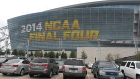 Outside AT&T Stadium before NCAA Final Four Tournament