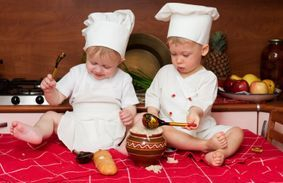Infants cooking