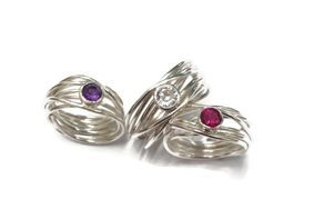 hand made silver wrap rings