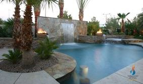 Residential swimming pool and spa renovations Las Vegas.