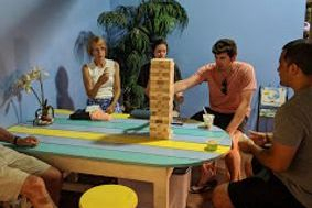 Giant Jenga perfect for any family and age.