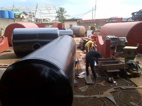 Nigeria finished product lines of oil tanks