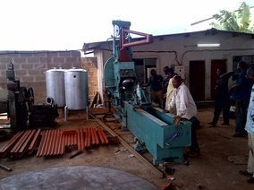 Flanger upon installation in Nigeria