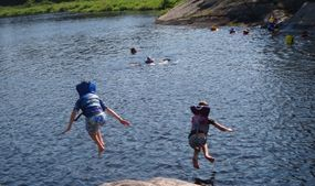 swimming and outdoor activities