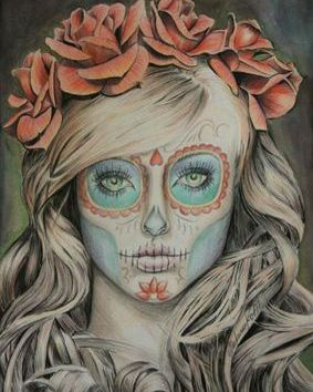 """Pencil drawing """"Red Roses for the Dead"""""""