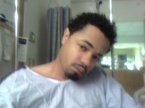 Son David after kidney surgery