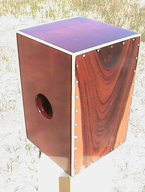 Custome Padouk String Cajon with Mahogany Head and Maple Binding