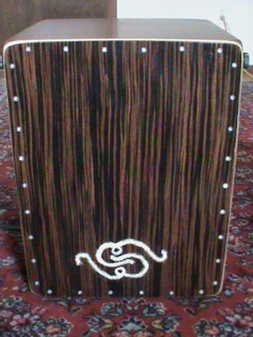 Custom Walnut and Ebony Snare Cajon with Pickups