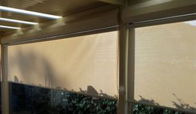 Outdoor awnings in a screen blind