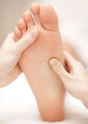Undersökning av fötterna