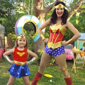 party birthday los angeles kids fun superhero active games wonder woman