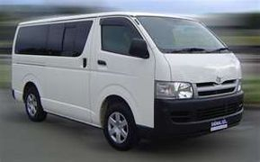 Toyota Hi-Ace  Style: Van  Seating Capacity: 14  Rate: php 2,500