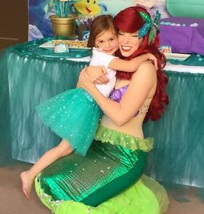 hug ariel mermaid little party birthday los angeles best