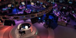 International news room