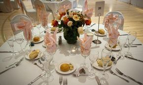 Venue Dressing Chair covers swagging  center pieces  linen hire