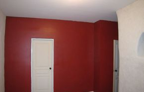 A nice bright bold red really helps make this hallway pop