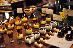 Dessert bars at wedding Buffets