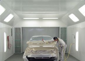 Shawns AutoBody Works Paint Booth