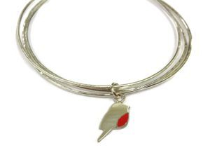 hand made robin bangle