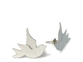 hand made aluminium dove studs