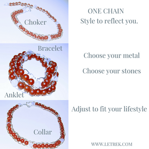4 in one Chain, Choker, Necklace, Bracelet, Anklet