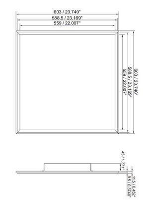 60x60 led panel size