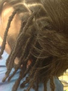 InstantLoc Dread Extensions started DreadLocks naturally on Caucasian Hair