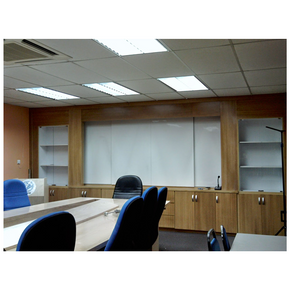 Meeting room cabinet.