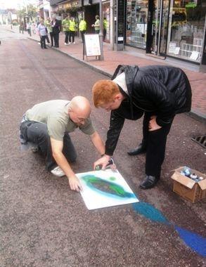 mural street art chalk road path community public river bourne sittingbourne