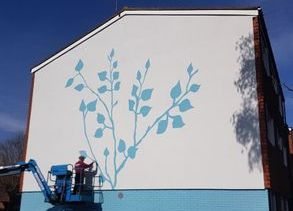 gable flower art mural