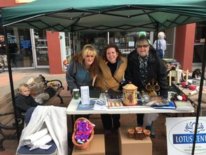 Tina Breslau, Rev. Diana Friedell, Bernadette Cannon (& Kristen Niles & Tom Schimmerling not there for photo) had a lot of fun working on the Grand and Glorious Garage Sale- thanks to all, we sold most everything that people donated and made over $300 on this fundraiser!