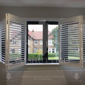 These bi-folding Shutters worked great in this bedroom, Essex