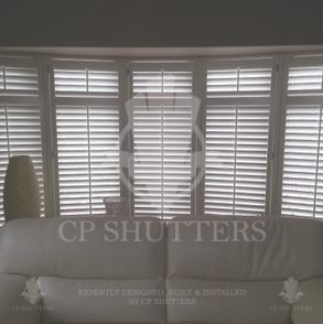 This bay in Essex looks great with our Seattle range of wooden shutters.