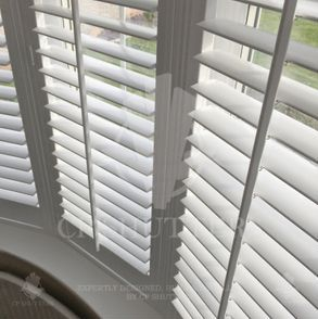 White wood shutters installed in Essex by CP Shutters