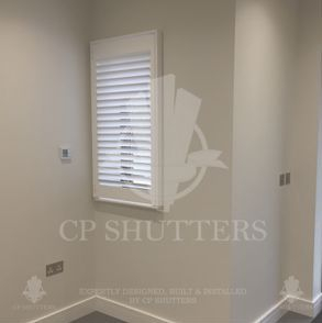 Wood shutters featured in a project based in Brentwood, Essex.