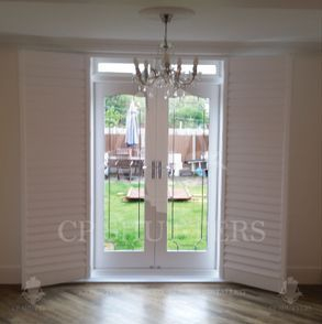 Wooden shutters built and installed by CP Shutters, Essex
